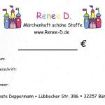 Gutschein Renee D. Ladenlokal