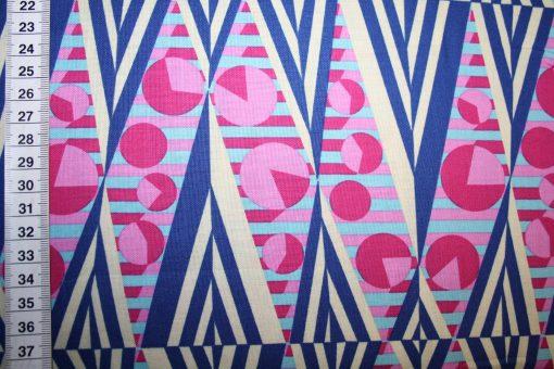 renee-d.de Onlineshop: Amy Butler Baumwollstoff Hapi serie blau pink beige