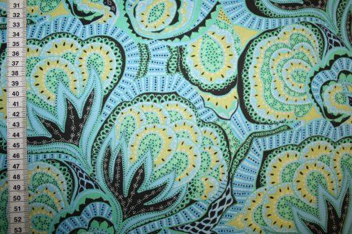 renee-d.de Onlineshop: Amy Butler Baumwollstoff Hapi serie grün blau
