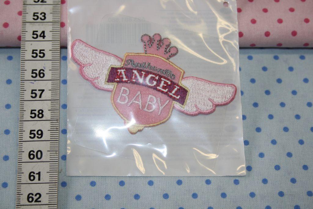 renee-d.de Onlineshop: Aufnäher Baby Angel rosa
