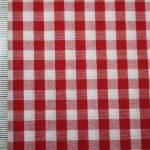 renee-d.de Onlineshop: Baumwoll Stoff Vichy Karo rot groß