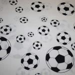 Baumwollstoff Fußball schwarz weiß
