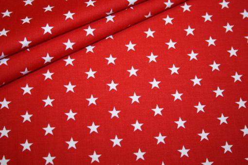 Artikel aus dem renee-d.de Onlineshop: Baumwollstoff rot Sterne weiß