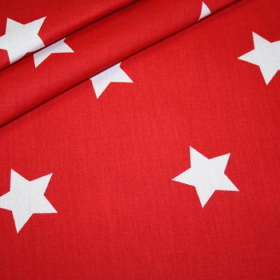 Artikel aus dem renee-d.de Onlineshop: Baumwollstoff rot mit sehr großen Sternen