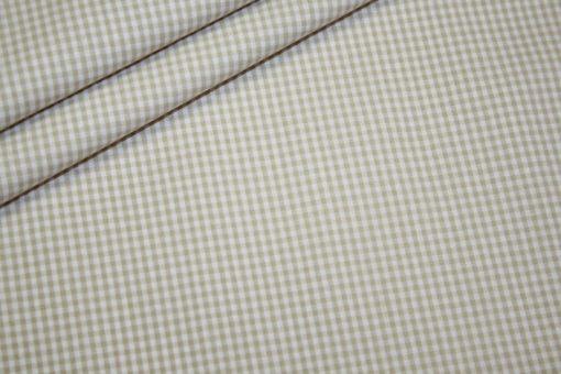 renee-d.de Onlineshop: Baumwoll Stoff Vichy Karo in beige klein