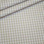 renee-d.de Onlineshop: Baumwoll Stoff Vichy Karo in beige mittel