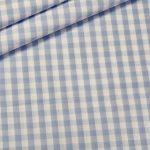 renee-d.de Onlineshop: Baumwoll Stoff Vichy Karo hellblau groß