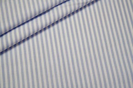 renee-d.de Onlineshop: Baumwoll Stoff Vichy Streifen hellblau mittel