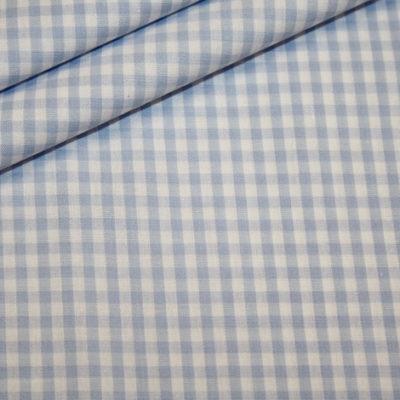 renee-d.de Onlineshop: Baumwoll Stoff Vichy Karo in hellblau mittel