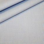 renee-d.de Onlineshop: Baumwoll Stoff Vichy Karo hellblau klein