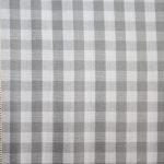 renee-d.de Onlineshop: Baumwollstoff Vichy Karo grau groß