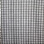 renee-d.de Onlineshop: Baumwollstoff Vichy Karo grau klein