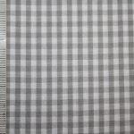 renee-d.de Onlineshop: Baumwollstoff Vichy Karo grau mittel
