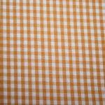 renee-d.de Onlineshop: Baumwollstoff Vichy Karo orange mittel