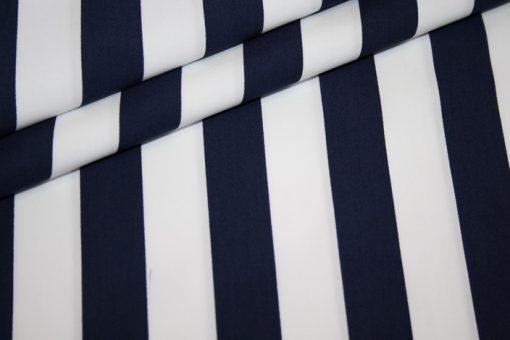 renee-d.de Onlineshop: Baumwollstoff breite Streifen blau weiß
