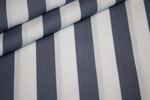 renee-d.de Onlineshop: Baumwollstoff breite Streifen grau weiß