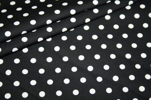 renee-d.de Swafing Baumwollstoff schwarz mit kleinen weißen Punkten
