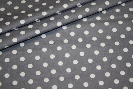 renee-d.de Swafing Baumwollstoff in grau mit weißen Punkten