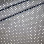 renee-d.de Baumwoll Stoff in grau mit weißen Punkten