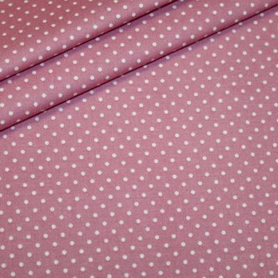 renee-d.de Baumwollstoff in altrosa mit kleinen weißen Punkten 100% Baumwolle