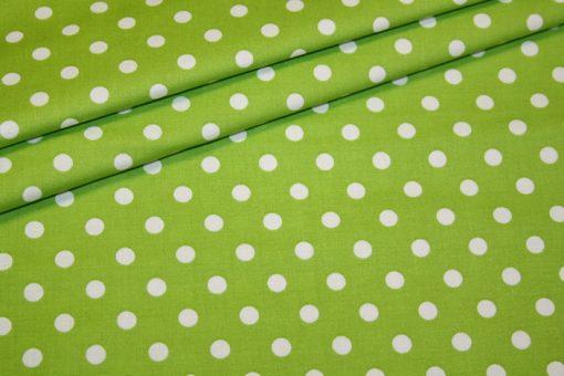 renee-d.de Baumwollstoff in grün mit weißen Punkten