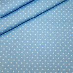renee-d.de Swafing Baumwollstoff hellblau mit kleinen weißen Punkten