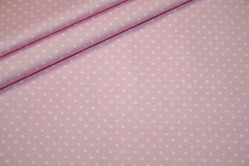 renee-d.de Baumwollstoff in rosa mit kleinen weißen Punkten