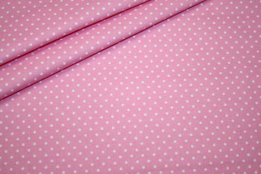 renee-d.de Swafing Baumwollstoff in bonbon rosa mit kleinen weißen Punkten