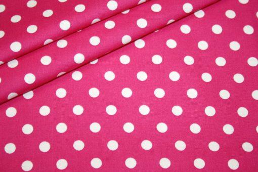 renee-d.de Baumwollstoff in pink mit weißen Punkten