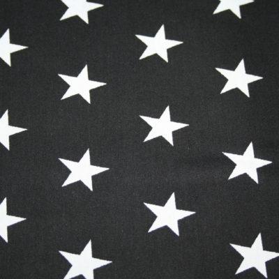 renee-d.de Onlineshop: Baumwollstoff schwarz große Sterne
