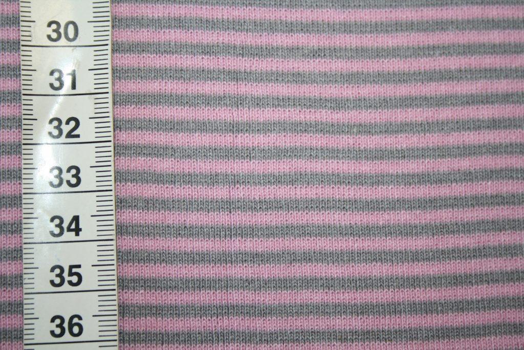 renee-d.de Onlineshop: Bündchen rosa grau gestreift