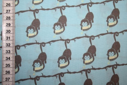 renee-d.de Onlineshop: Camelot Baumwollstoff Affe mit Kind