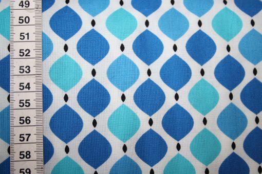 renee-d.de Onlineshop: Camelot Baumwollstoff Muster Ornamente blau