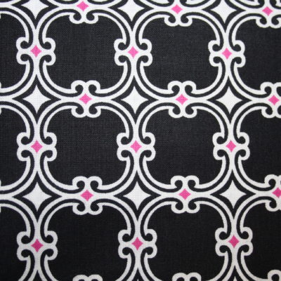 renee-d.de Onlineshop: Camelot Baumwollstoff Muster Ornamente schwarz