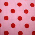 renee-d.de Onlineshop: Swafing Cord Stoff rosa große Punkte rot