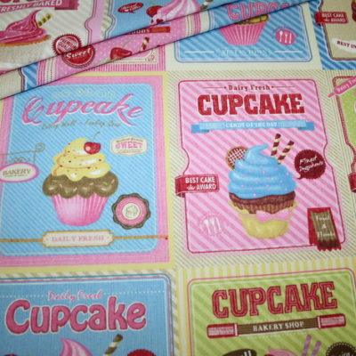 renee-d.de Onlineshop: Deko Baumwollstoff Törtchen Cupcake