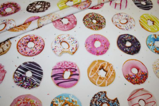 renee-d.de Onlineshop: Fotoprint Digitaldruck Deko Stoff Donuts