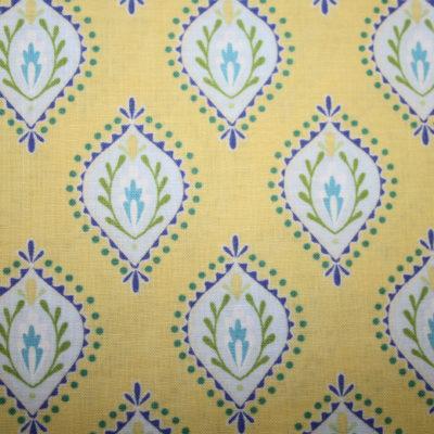 renee-d.de Onlineshop: Dena Baumwollstoff gelb Ornamente