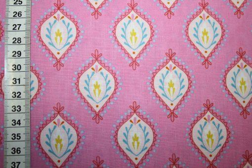 renee-d.de Onlineshop: Dena Baumwollstoff rosa Ornamente
