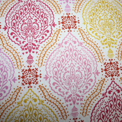 renee-d.de Onlineshop: Dena Baumwollstoff rosa orange Ornamente