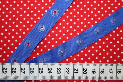 renee-d.de Onlineshop: Druckknopfband blau