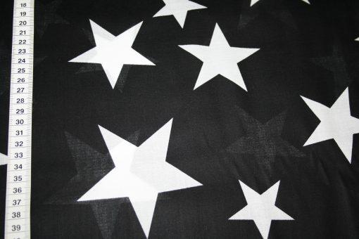 renee-d.de Onlineshop: Dünner Batist Baumwollstoff Sterne schwarz