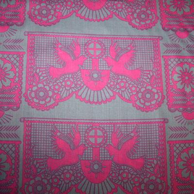 renee-d.de Onlineshop: Dünner Baumwoll Batist Stoff pink grau Blumen