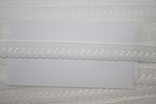 renee-d.de Onlineshop: Elastisches Gummi Schrägband  weiß