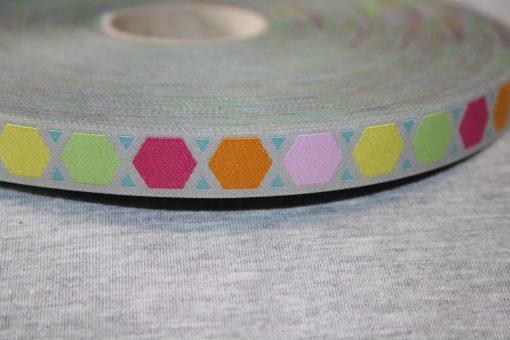renee-d.de Onlineshop: Farbenmix Webband Geometric
