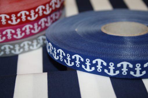 renee-d.de Onlineshop: Farbenmix Webband Anker blau