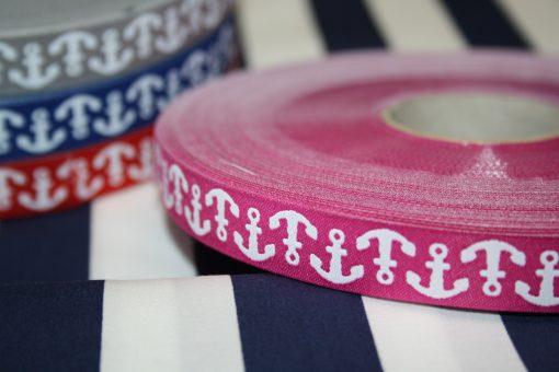 renee-d.de Onlineshop: Farbenmix Webband Anker pink