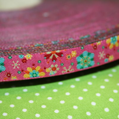 renee-d.de Onlineshop: Farbenmix Webband Mandalablumen pink