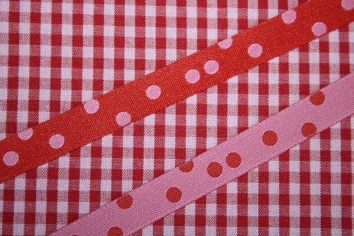renee-d.de Onlineshop: Farbenmix Webband Punkteband rot rosa
