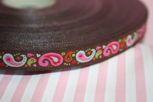 renee-d.de Onlineshop: Farbenmix Webband Paisley in braun